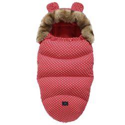 Zimní fusak Lillo Červená fur collar-0-24m (100x46cm)