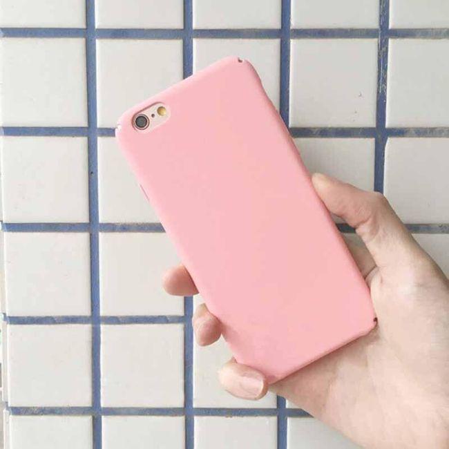 Jednoduchý barevný kryt pro iPhone - různé druhy 1