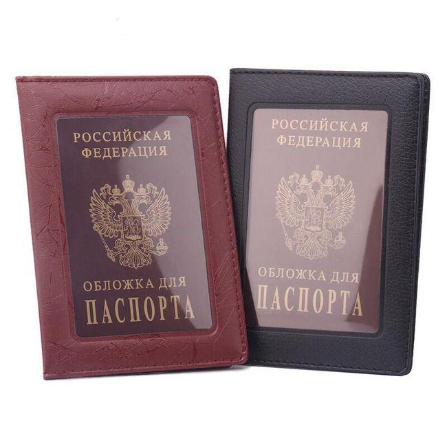 Pouzdro na cestovní pas s transparentním víkem - 2 barvy 1