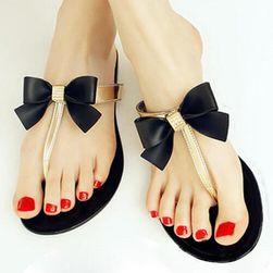 Női papucsok flip-flopok - arany és fekete