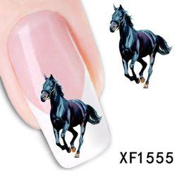Naljepnice za nokte - crni konj