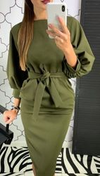 Uzun kollu bayan elbise Helina