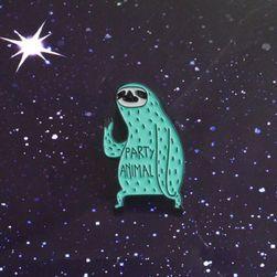 Unisex brož Sloth