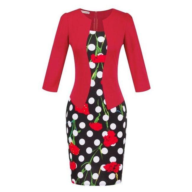Módní šaty dvojdílného vzhledu v mnoha velikostech a barvách 1