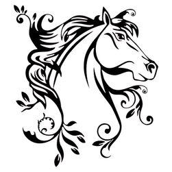 Nalepnica za automobil - prelepi konj