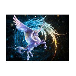 5D festmény 40 x 30 cm - Pegasus
