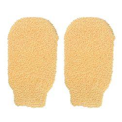 Masážní rukavice v tělové barvě - 1 pár