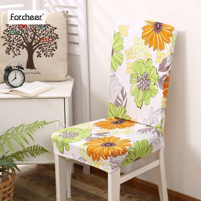 Květinový potah na židli 1