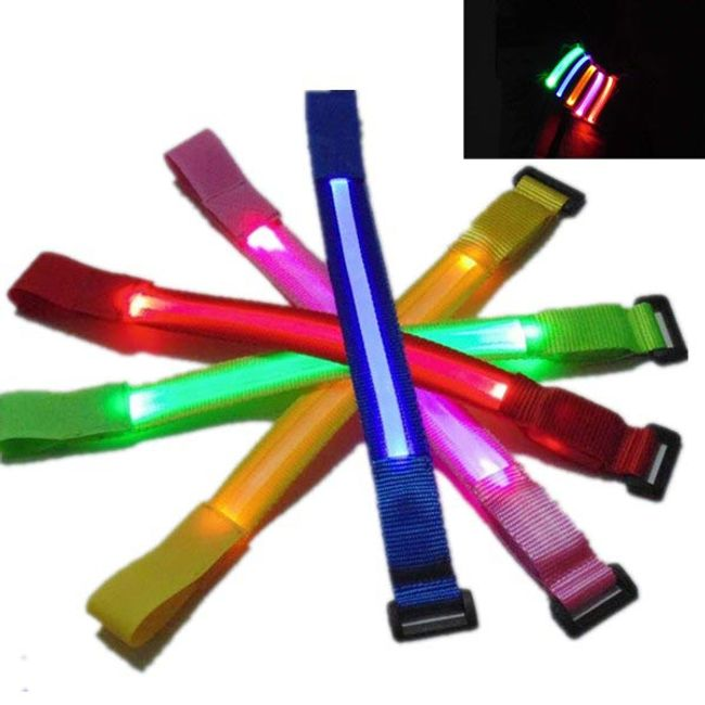LED világító kézi heveder - 5 színben 1