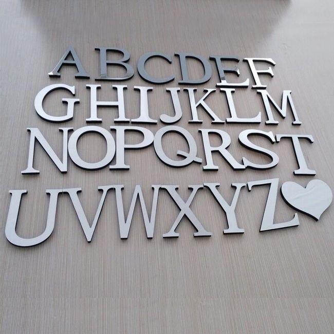 3D ayna harfleri 1