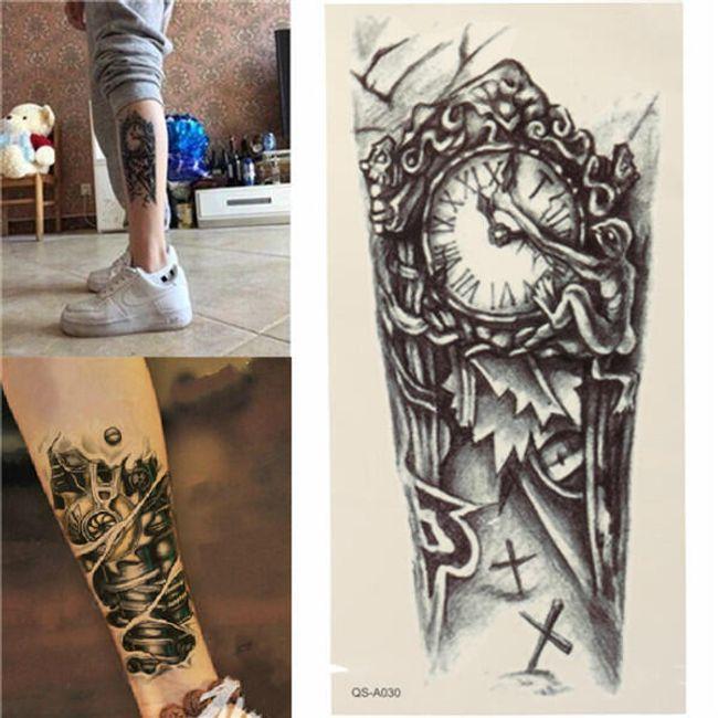 Переводная татуировка - ретро часы 1