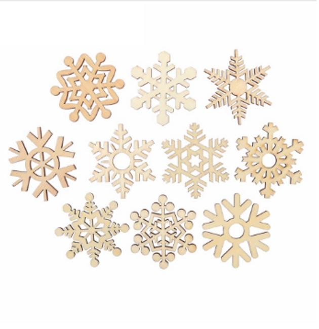 Set lesenih snežink 1