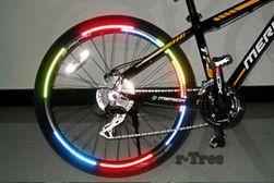 Autocolant reflectorizant pentru roțile bicicletei - mai multe culori