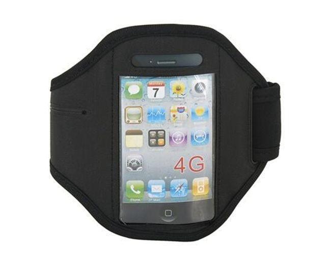 Sportovní pouzdro na ruku pro iPhone 4 - černá barva 1