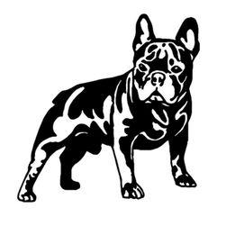 Autó matrica bulldog motívummal - 2 szín