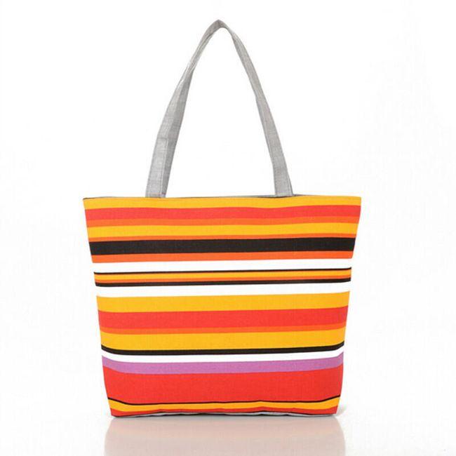 Женская сумочка с цветными полосками 1