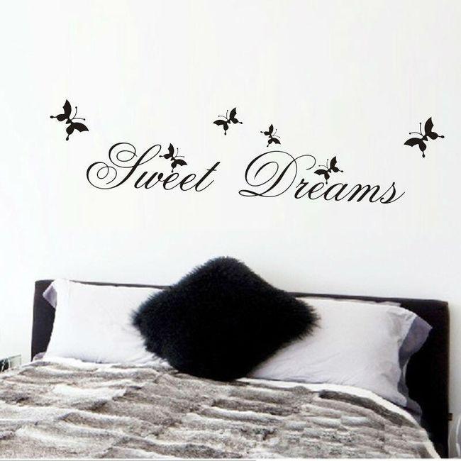 Stylowa naklejka do wnętrz - sweet dreams 1