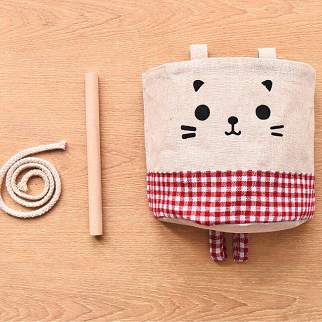 Závěsný bavlněný vak v designu kočičky 1