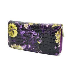 Dlouhá květovaná peněženka na zip