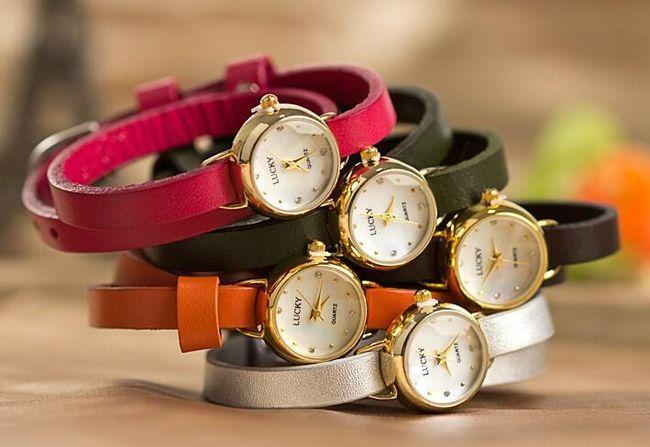 Dámské hodinky s barevným páskem - 5 barev 1