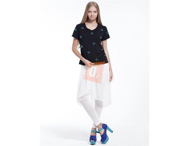 Dámská bílá sukně s legínami 1