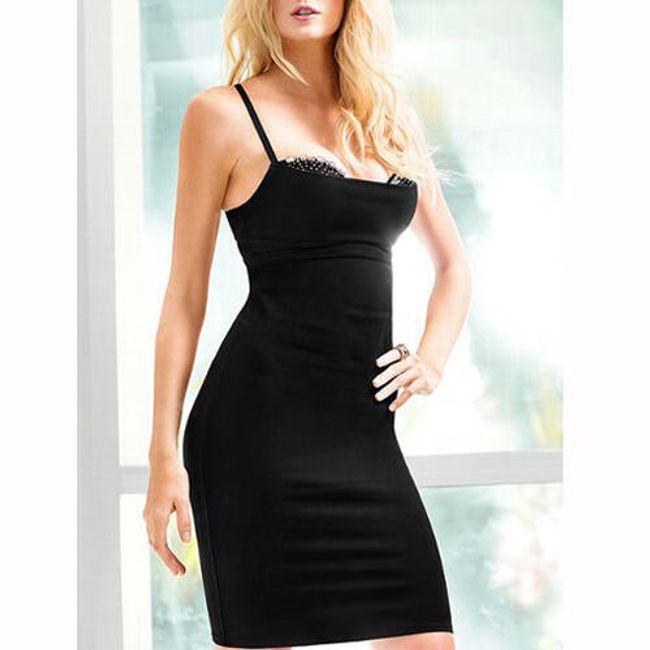 Dámské elegantní šaty - černé 1