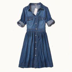 Džínové šaty s áčkovou sukní