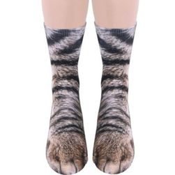Забавни чорапи - животински лапи