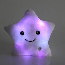 Svíticí LED polštář Hvězda - 5 barev