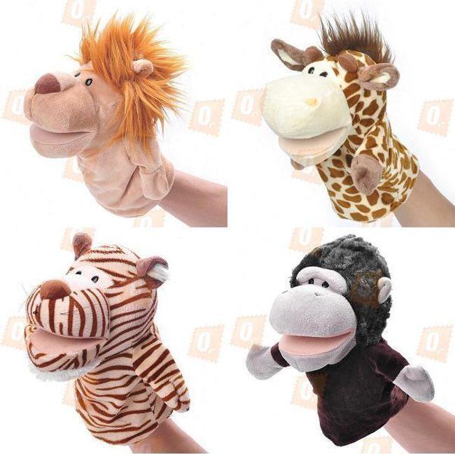 Веселые марионетки на руку, звери Зоопарка- 4 варианта 1