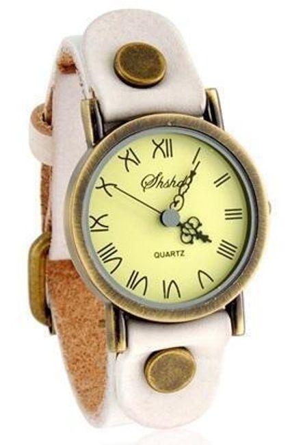Bílé hodinky s římskými číslicemi 1