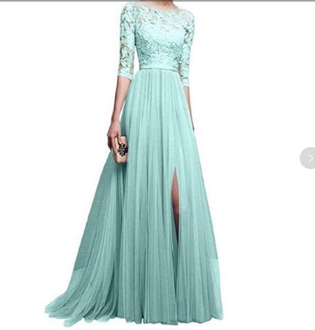Společenské šaty s tříčtvrtečním rukávem - Tyrkysová-velikost č. 7 1