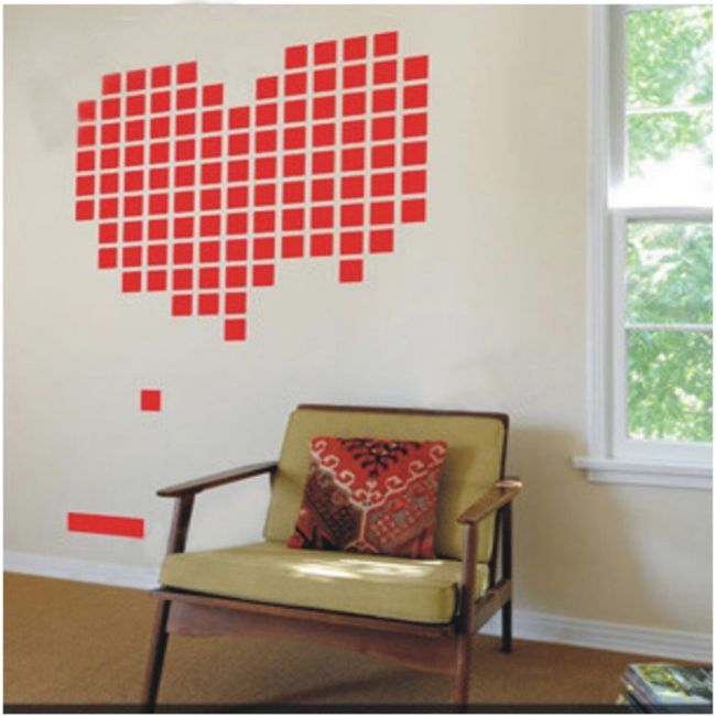 Dekoracja na ścianę - serce 1
