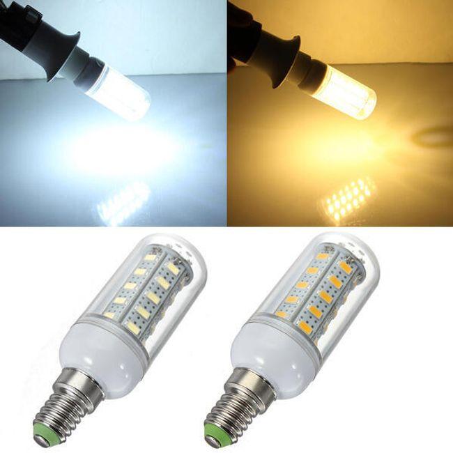 7 W LED крушка с 36 светодиоди - 2 цвята на светлина (E14 гнездо) 1