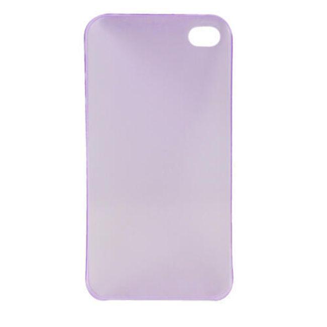 Plastový ochranný kryt na iPhone 4 a 4S - fialový ultratenký průsvitný 0.3 mm 1