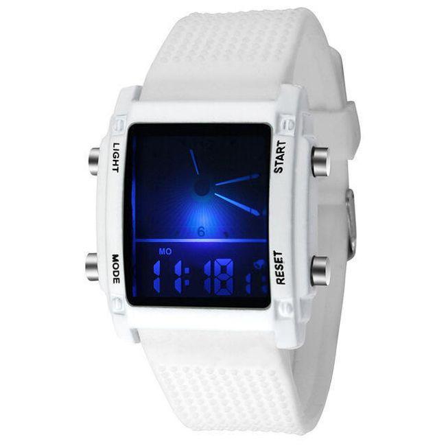 Digitální hodinky pro pány - Bílá 1