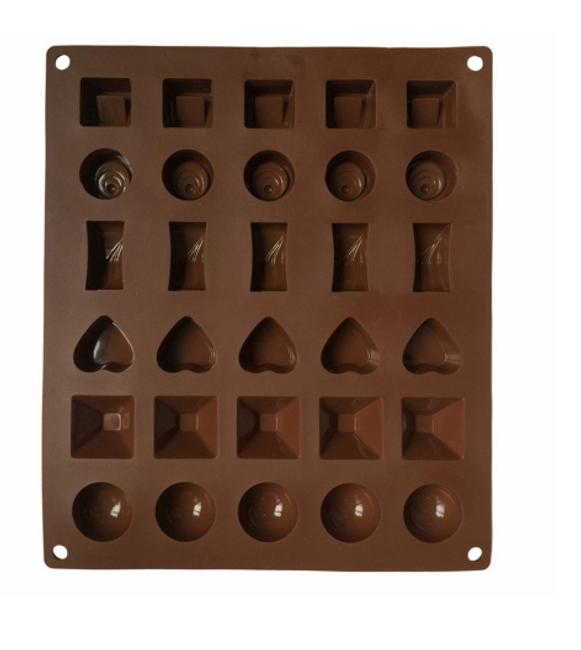 Hnědá silikonová forma na čokoládu nebo led 1