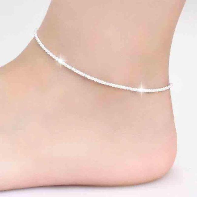 Brățară pentru picior în design elegant - 4 variante 1