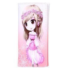 Dívčí peněženka s obrázkem dívky - různé varianty