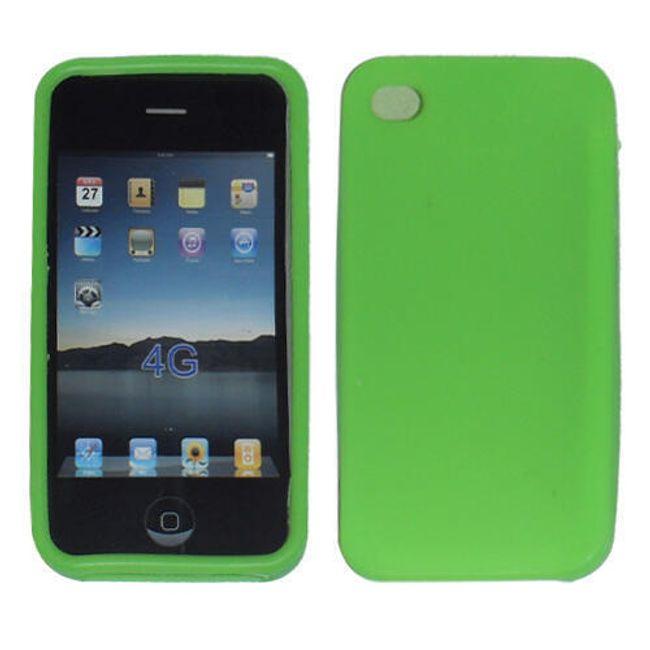 5ks zelené silikonové ochranné pouzdro pro iPhone 4 a 4S 1
