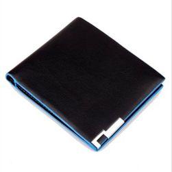 Стилен портфейл за мъже в черно-синьо