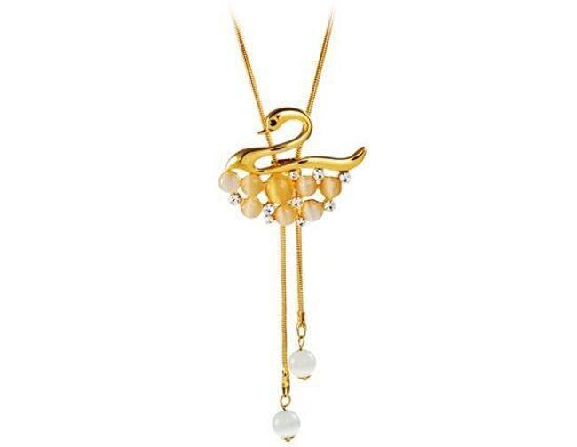 Luxusní náhrdelník s labutí 1