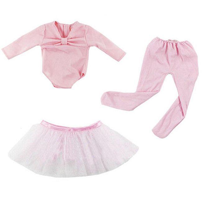 Кукольный костюм балерины- розовый 1