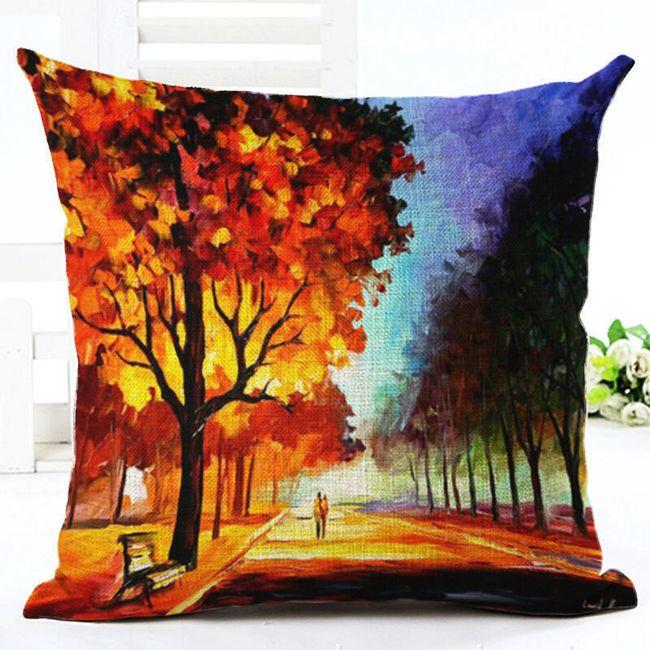 Față de pernă cu pădure colorată 1