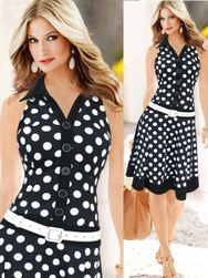 Letní šaty s puntíky