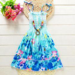 Plażowa sukienka dla dziewczynek z naszyjnikiem - 14 wariantów