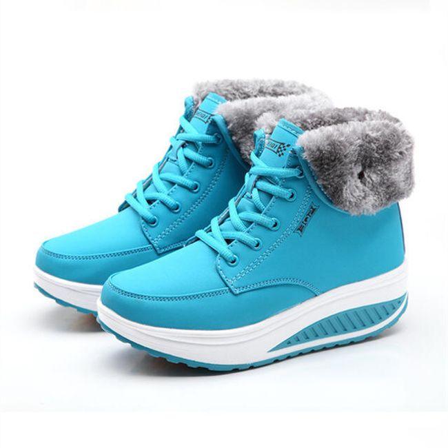 Barevné zimní boty Elenora s vyšší podrážkou - 7-velikost č. 38 1