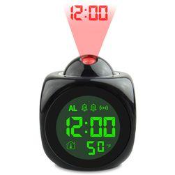 LED ébresztőóra hőmérővel és vetítéssel
