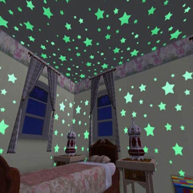 Fosforlu duvar yıldızlar 1