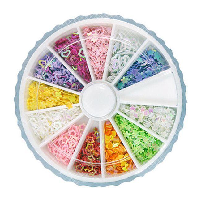 Sada ozdob nejen na nehty - mix 12 tvarů a barev 1